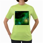 Amazing Universe Women s T-shirt (Green)