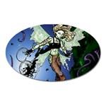 Purple Night Elf Fairy Magnet (Oval)