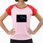 Ghost on Phone Goth Punk Spooky Women s Cap Sleeve T-Shirt