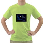 Ghost on Phone Goth Punk Spooky Green T-Shirt