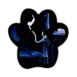 Ghost on Phone Goth Punk Spooky Magnet (Paw Print)