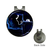Ghost on Phone Goth Punk Spooky Golf Ball Marker Hat Clip
