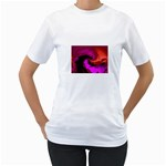 Rose and Black Explosion Fractal Women s T-Shirt