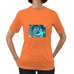 Blue and Silver Twisted Future Fantasy Women s Dark T-Shirt