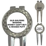 OLD GOLFERS WISDOM MONEY CANT BUY A HOLE IN ONE 3-in-1 Golf Divot