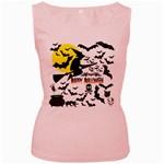 Happy Halloween Collage Women s Tank Top (Pink)