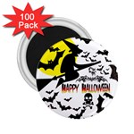 Happy Halloween Collage 2.25  Button Magnet (100 pack)