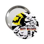 Happy Halloween Collage Handbag Mirror (2.25 )
