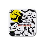 Happy Halloween Collage Drink Coasters 4 Pack (Square)