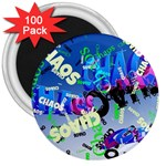 Pure Chaos 3  Button Magnet (100 pack)