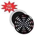 Zombie Apocalypse Warning Sign 1.75  Button Magnet (100 pack)