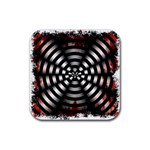 Zombie Apocalypse Warning Sign Drink Coaster (Square)