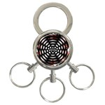 Zombie Apocalypse Warning Sign 3-Ring Key Chain