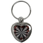 Zombie Apocalypse Warning Sign Key Chain (Heart)