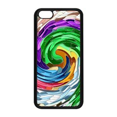 CirclesMultiColouredSwirlFinal Apple iPhone 5C Seamless Case (Black) from Aussie Custom Gifts Front