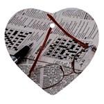 Crossword Genius Heart Ornament