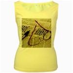 Crossword Genius Women s Tank Top (Yellow)