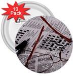 Crossword Genius 3  Button (10 pack)