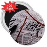 Crossword Genius 3  Button Magnet (100 pack)