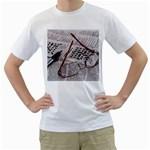 Crossword Genius Men s Two-sided T-shirt (White)