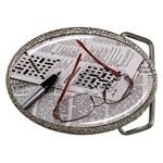 Crossword Genius Belt Buckle (Oval)
