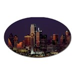 Dallas Skyline At Night Magnet (Oval)