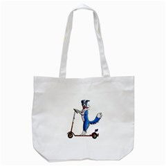 A Dog On A Scooter Tote Bag (white)