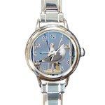 Je 002 116  Jacquei Essex Two Gulls At Rest Round Italian Charm Watch