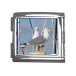 Je 002 116  Jacquei Essex Two Gulls At Rest Mega Link Italian Charm (18mm)