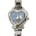 Je 002 116  Jacquei Essex Two Gulls At Rest Heart Italian Charm Watch