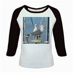 Je 002 116  Jacquei Essex Two Gulls At Rest Kids Baseball Jersey
