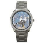 Je 002 116  Jacquei Essex Two Gulls At Rest Sport Metal Watch