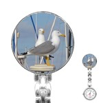 Je 002 116  Jacquei Essex Two Gulls At Rest Stainless Steel Nurses Watch