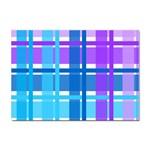 Blue & Purple Gingham Plaid A4 Sticker