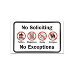 No soliciting sign sticker