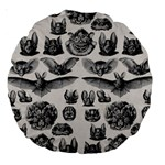 Haeckel Chiroptera Large 18  Premium Round Cushion