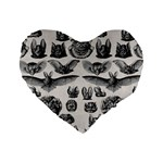 Haeckel Chiroptera Standard 16  Premium Heart Shape Cushion