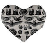 Haeckel Chiroptera Large 19  Premium Heart Shape Cushion