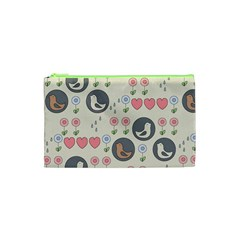 Love Birds Cosmetic Bag (xs) by Kathrinlegg