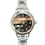 Kerry s Lighthouse -  Ave Hurley   - Round Italian Charm Watch