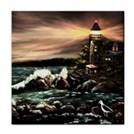 Kerry s Lighthouse - Ave Hurley - Tile Coaster