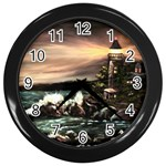 Kerry s Lighthouse - Ave Hurley - Wall Clock (Black)