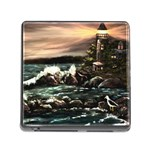 Kerry s Lighthouse -  Ave Hurley   - Memory Card Reader with Storage (Square)