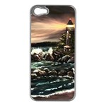Kerry s Lighthouse -  Ave Hurley   - Apple iPhone 5 Case (Silver)