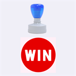 WIN button rubber stamp