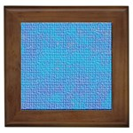 Textured Blue & Purple Abstract Framed Ceramic Tile