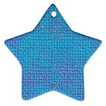 Textured Blue & Purple Abstract Star Ornament