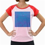 Textured Blue & Purple Abstract Women s Cap Sleeve T-Shirt (Colored)