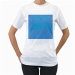 Textured Blue & Purple Abstract Women s Two-sided T-shirt (White)