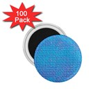Textured Blue & Purple Abstract 1.75  Button Magnet (100 pack)